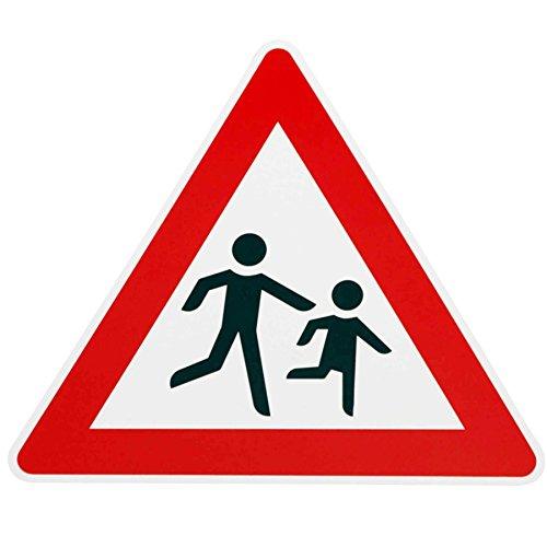 ORIGINAL Verkehrsschild ACHTUNG KINDER Nr. 136-20 Aufst. links Verkehrszeichen Schilder RAL Kinderschilder Kinderschild Warnschild spielende Kinder Verkehrsschilder Strassenschild Hinweisschild Gefahrenzeichen Schild Gefahrenschild