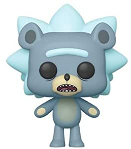 Funko- Pop Animation: Rick & Moty-Teddy Rick w/Chase (Styles May Vary) Collectible Figure, Multicolor (44250)