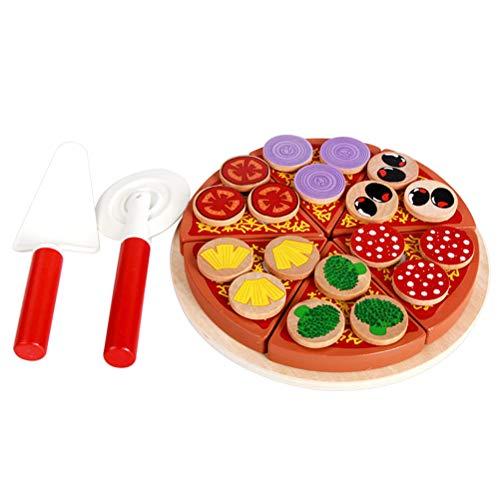 Toyvian Spielzeug-Set zum Selberschneiden von Pilz, Pizza, Lebensmittel, Spielzeug für Kinder