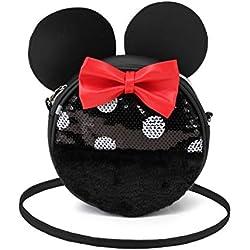 Karactermania Minnie Mouse Sequin - Bolso Redondo, Multicolor