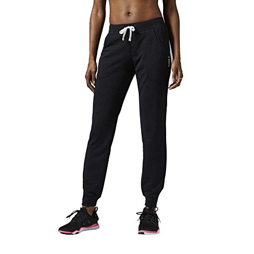 Reebok Oberbekleidung French Terry Cuffed Pants, schwarz, S, AJ2787 (Damen Cuffed Short)