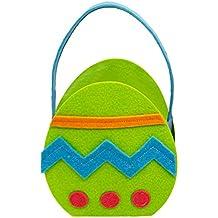 Lukis Osternest Osterkorb zum Dekorieren für Kinder zu Ostern Grüne Eier 16.5 x 8 .5x 25cm