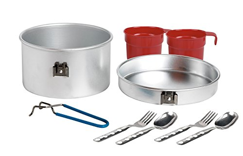 Fiambrera de Laken de aluminio 1,6 Liter Aluminium Cooking Set 2 Persons 1.6 L. w/2 Sets of Cutlery and Cup