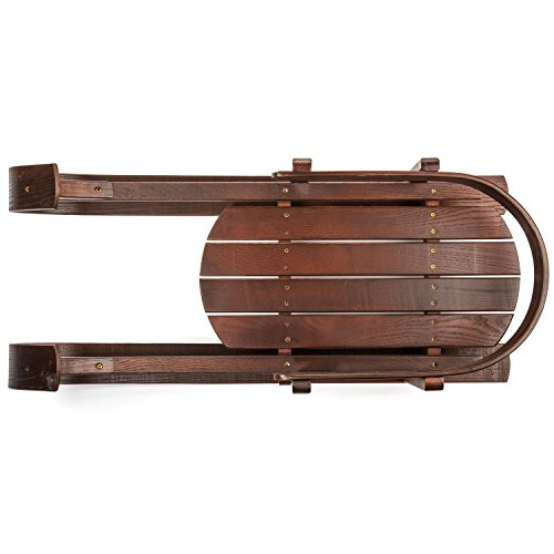 lucky-bums-heirloom-collection-wooden-baby-boggan-sled-with-pad-by-lucky-bums