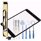 LL TRADER Pantalla para iPad Mini 1&2 Negro, Reemplazo de Táctil Touchscreen con Botón de Inicio + Digitalizador de Lente de
