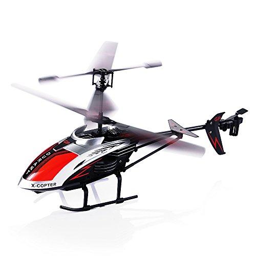 Ferngesteuerter Hubschrauber, 3.5 Kanal Robuster RC Hubschrauber Mini Fernsteuerung Helikopter Flugzeug mit Gyro-Technik und LED-Licht