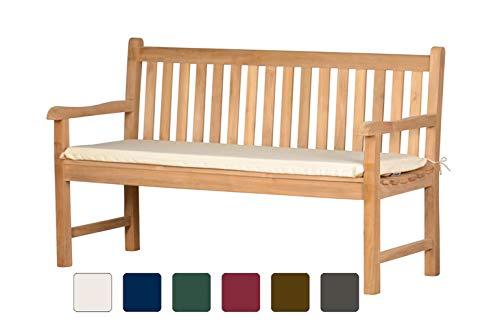 Bankauflage Sitzus aus lichtechtem Dralon – 120 x 40cm, naturweiß  Waschbar  Hoher Sitzkomfort...