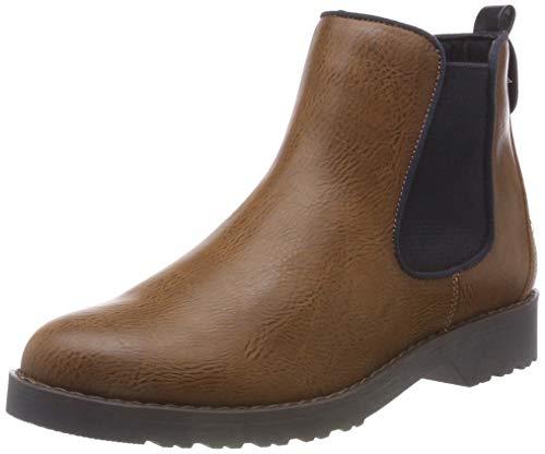 MARCO TOZZI Damen 25497-21 Chelsea Boots, Braun (Cognac Ant.Com 372), 39 EU