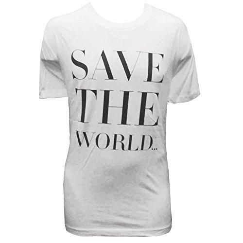 Swedish House Mafia: Save The World T-shirt Uomo - Bianco, L - Large