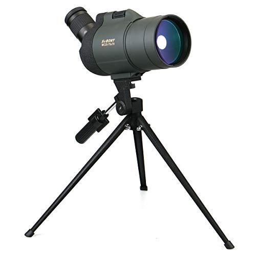 Svbony SV41 Spektiv 25-75x70 MAK Mini Monokular Voll Multi-Coated IPX7 Wasserdicht BAK4 45 Grad Abgewinkelt Okularteleskop Mit Tischstativ für (Armeegrün)