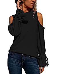 DEELIN LiquidacióN Blusa Moda Mujer Sexy Arco Sin Tirantes Manga Larga Pullover Blusa Camisas Camiseta Tops Blusa NiñAs