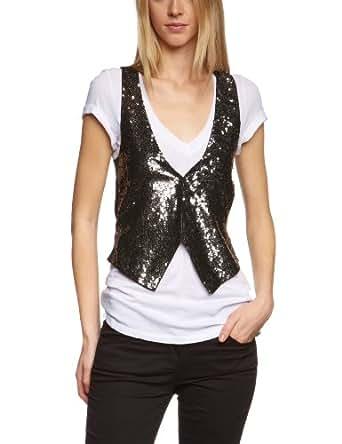 ONLY Women's Sleeveless Waistcoat - Black - Schwarz (BLACK) - 10 (Brand size: S)