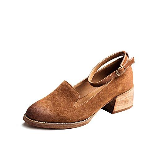 Chaussures pour femmes/Chaussures anglais/La version coréenne des chaussures pointues B