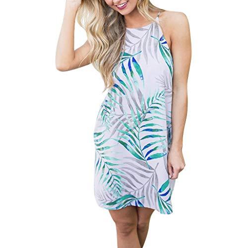 YU'TING Vestido Mujer Verano Impresión Mini Vestidos
