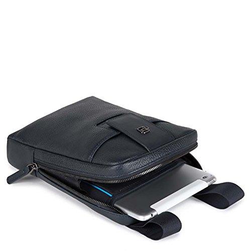 Tracolla uomo Piquadro ILI in vera pelle porta iPad mini Blu