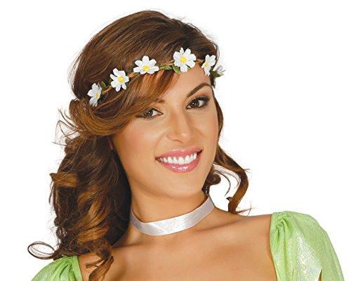 Fiestas Guirca GUI18681 - Diadem weisse (Hippie Carnevale Kostüm)