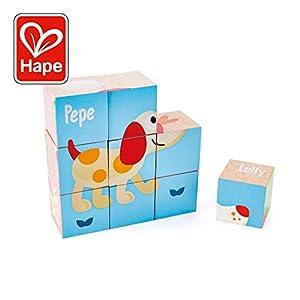 Hape- Puzzle Bloques Pepe y Amigos (Barrutoys E0452)