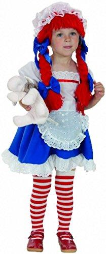Mädchen Stoffpuppe Kleinkind Fancy Dress Party Kids Kostüm 2–4Jahre Kinder Gr. Kleinkind 2-4 Jahre, (Rag Für Mädchen Doll Kostüm)