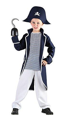 te Captain Kostüm, weiß (Pirate Halloween-kostüme Für Jungen)