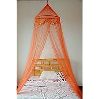 Letto Mosquito Nets 4 U -Orange matrimoniale a baldacchino con perline (4 Letto A Baldacchino)