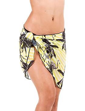 iBaste 2017 Nuevo Mujer Impresión Falda de la Playa Vestidos Playa Bikini Pantalones Cover up