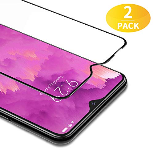 BANNIO Vidro Temperado para Xiaomi Redmi 8 / Xiaomi Redmi 8A, 2 Pieces Filme de Proteção de Tela Cheia para Xiaomi Redmi 8 / Redmi 8A, Capa de Proteção de Tela Cheia, Sem Bolha, Anti-Impressão Digital, Preto