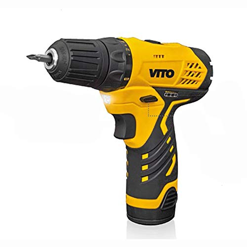 Vito 12Volt Akkuschrauber, 2.0Ah Li-Ion-Akku + Zubehör & LED