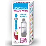 SodaStream ReservePack- mit PET Flasche (1 CO2-Zylinder für 60L und 1L PET-Flasche)