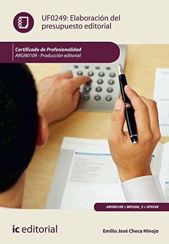 Elaboración del presupuesto editorial. argn0109 - producción editorial por Emilio José Checa Hinojo