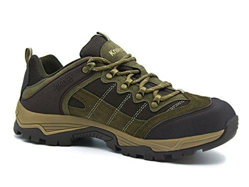 Knixmax Wanderschuhe Wasserdicht Trekking Schuhe Herren Sports Outdoor Gleitsicher Hiking Boots Men Waterproof Trekking-& Wanderhalbschuhe Dämpfung Sneaker Braun Blau Grau 41-46 Braun