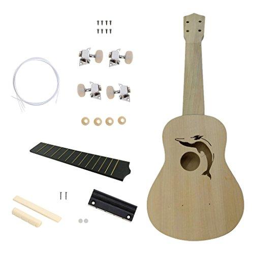 Baoblaze 21 Zoll Ukulele DIY Kit Gitarre Kit Ukulele Herstellen Montage Werkzeug Spielzeug Geschenk Kind - #3