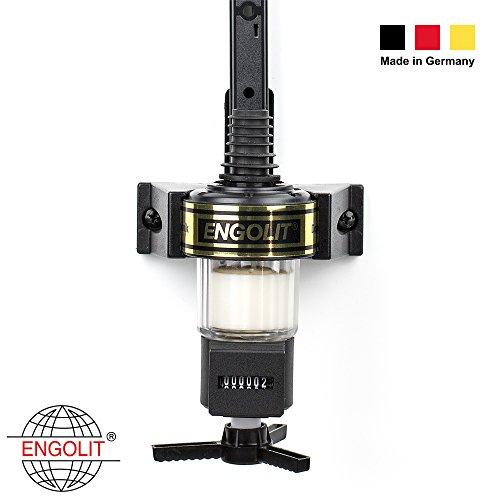 2cl Spirituosen-Dosierer mit Zähler (Präzisions-Zählwerk, IP65 staub- & wasser-geschützt) - ENGOLIT - Made in Germany - Schnapsspender, Portionierer (ohne Flaschensicherung, inkl. Flaschenhalter)