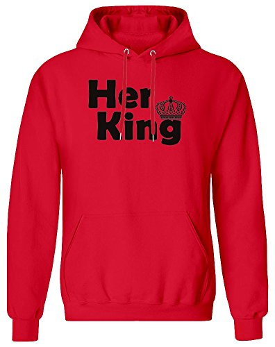 Her King Hoodie Sweatshirt for Men - 80% Cotton, 20% Polyester - High Quality DTG Printing - Custom Printed Clothing for Men