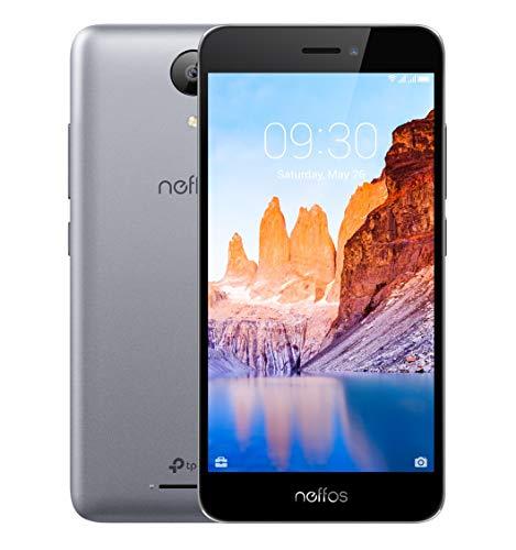 TP-Link Neffos C7A 4G LTE Einsteiger Smartphone ohne Vertrag, 5 Zoll HD Bildschirm (12,7 cm), 16GB Speicher, Dual SIM, für Kinder, Speicher erweiterbar, 8MP Kamera, Android 8.1 (NFUI), cloudy grey