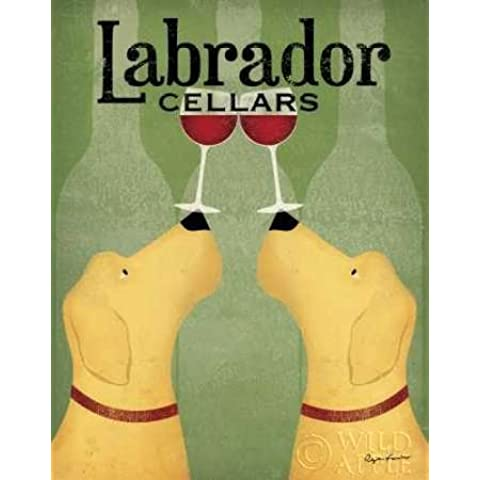 Due Labrador Vino cani by Fowler, Ryan–stampa