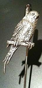 BodyCandy Zinn Wellensittich Vogel Wellensittich Pet Lesezeichen - ideales Geschenk für jeden Parfumliebhaber Wellensittich/Vogel Lover/Bücher - wird IN einer Geschenkbox