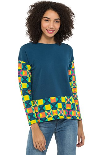 Chumbak Poly Tiles Regular Sweatshirt Navy - M