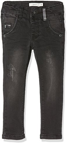NAME IT Baby-Jungen Jeans Nittrap Skinny Dnm Pant Nmt Noos, Grau (Dark Grey Denim), 104