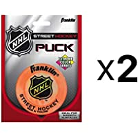 Franklin NH Extreme Color Assortment Street Hockey Puck Color May Vary (2-Pack)