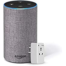 Amazon Echo (Grey) Bundle with Oakter 16A smart plug