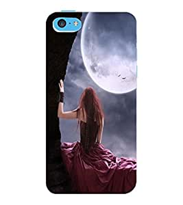 ColourCraft Girl Design Back Case Cover for APPLE IPHONE 5C