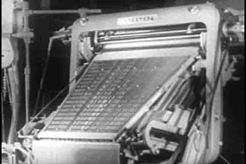 Classic Printing Press & Linotype Typesetting Films DVD: 1940s - 1960s Printing Industry History Pictures