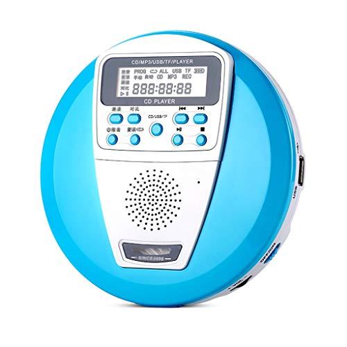 YC electronics Tragbare CD-Player Lernen CD-Player Tragbarer Player Audio Home Mini-Walkman U-Disk Mp3-Disc für Kinder Pränatale Musik CD-Spieler (Color : Blue) (100 Player Cd Disc Home)