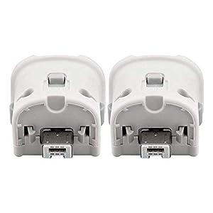 Wetoph Wii Motion Plus Adapter NK06 Motion Plus Zubehör für Nintendo Wii Remote Controller (Dritteanbieter-Produkt) -Weiß