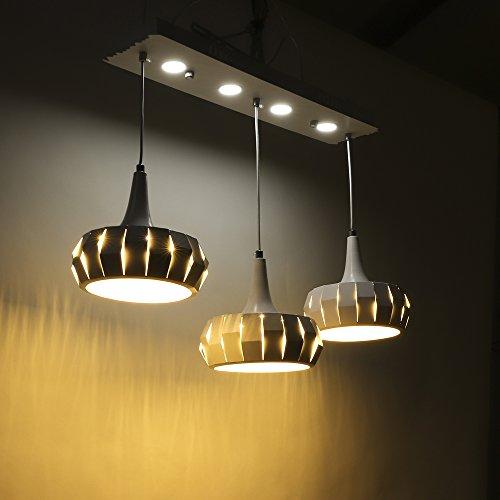 SAILUN 48W Warmweiß LED Kronleuchter Kreatives Design Pendelleuchten Pendellampe für Esszimmer Küche Wohnzimmer Deckenleuchte Hängeleuchte Pendel Lampe (48W Warmweiß - Kürbis)