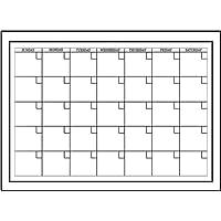 Fine Décor - Calendario mensile cancellabile a secco autoadesivo Wallpops, colore: Bianco