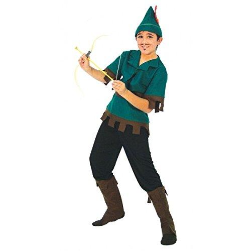 Guirca Bandito del Bosco Disney Costume Robin Hood Bambino 5/6 Anni, Verde, Nosize 81241