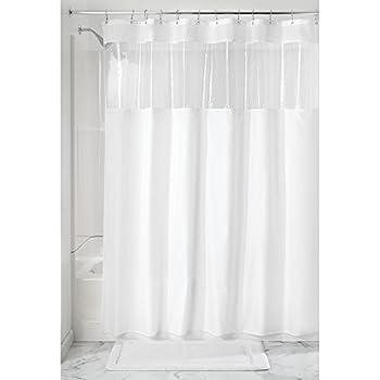 InterDesign Rideau De Douche Avec Fenêtre Transparente, 183,0 Cm X 183,0