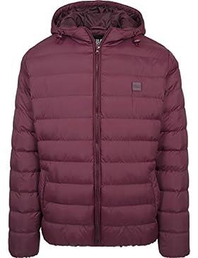 Urban Classics Basic Bubble Jacket, Chaqueta para Hombre, Schwarz-Weiß-Schwarz