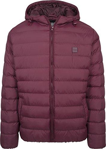 Urban Classics Herren Jacke Basic Bubble Jacket Cherry